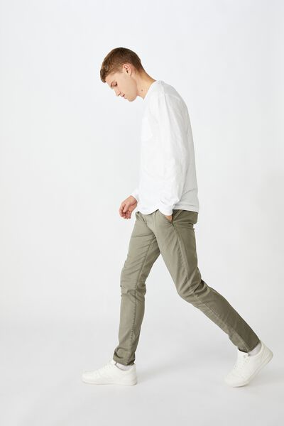 Skinny Stretch Chino, WASHED KHAKI