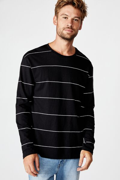 Tbar Premium Ls, BLACK/WHITE/SPACED STRIPE