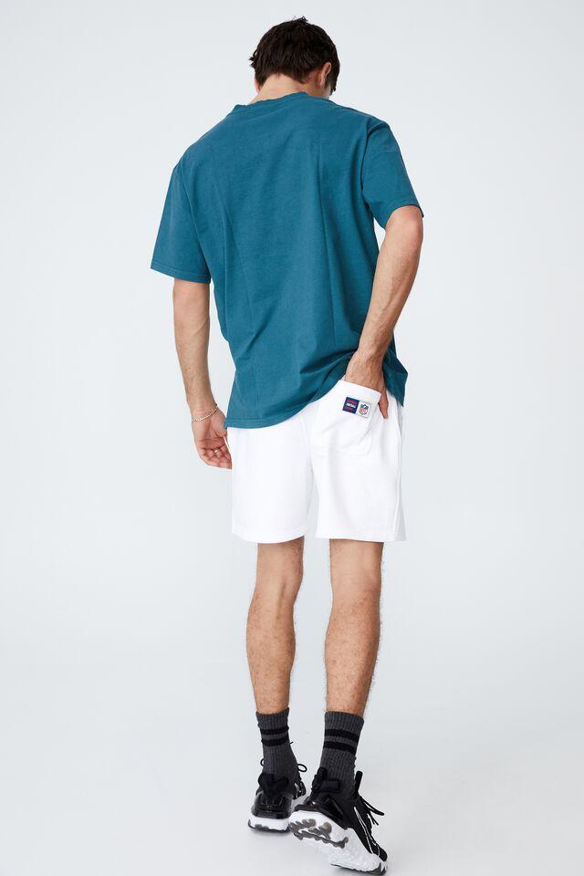Active Collab Fleece Short, LCN NFL WHITE/RAIDERS