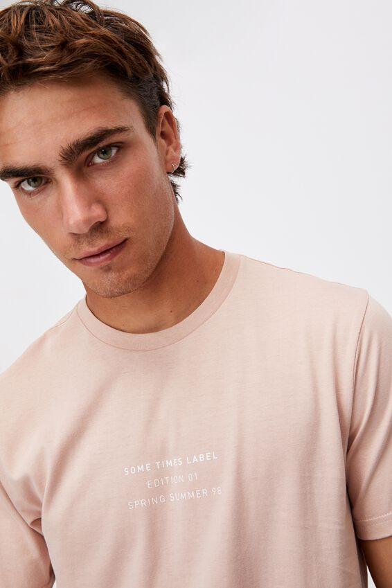 Tbar Text T-Shirt, DIRTY PINK/EDITION 01