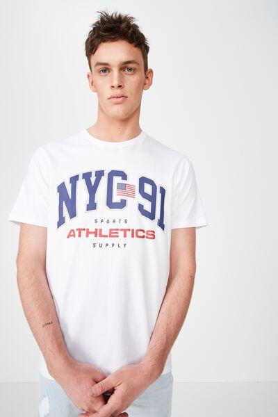 Sport T-Shirt, WHITE/NYC 91