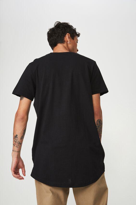 Essential Longline Curved Hem, BLACK