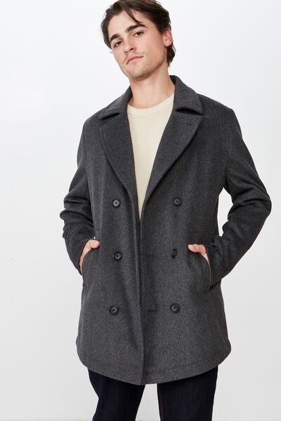 Double Breasted Trench, CHARCOAL