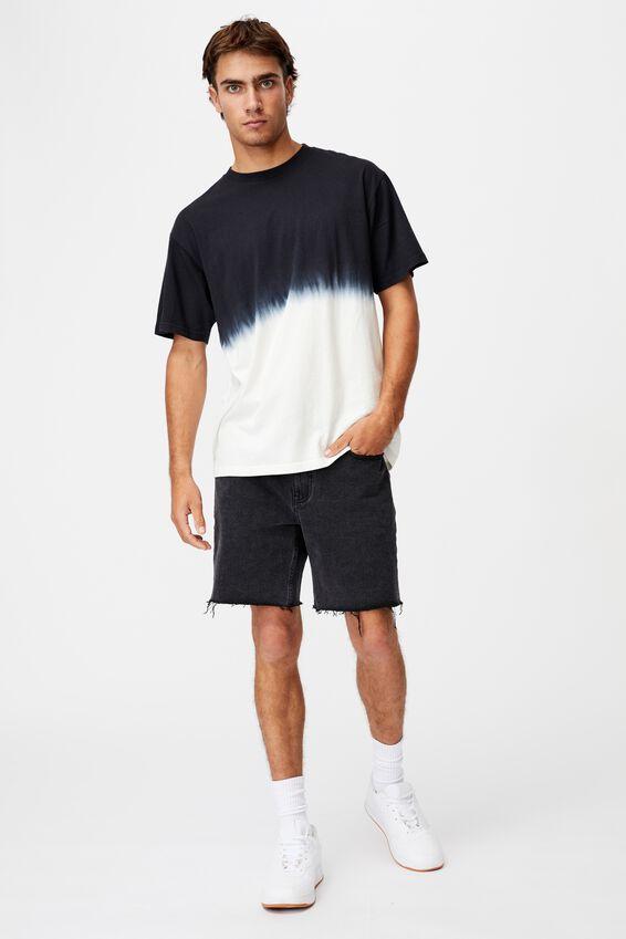 Festival T-Shirt, WASHED BLACK/BONE DIP DYE