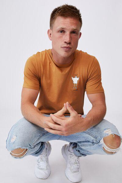 Tbar Art T-Shirt, BRONZE/GET WEIRD