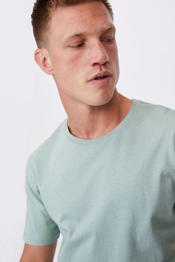 Essential Longline Scoop T-Shirt, SEA FOAM