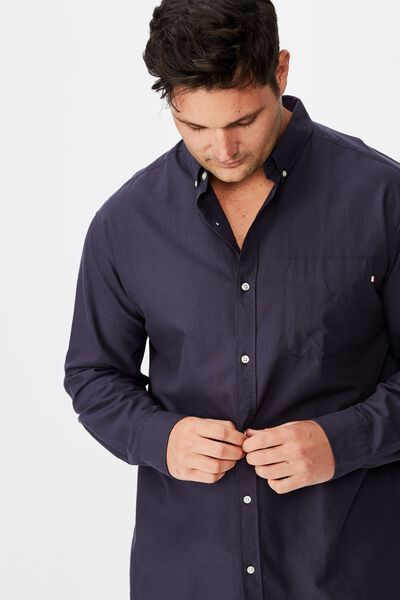 Brunswick Shirt, NAVY OXFORD