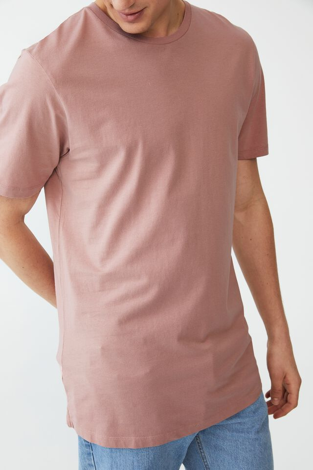 Organic Longline T-Shirt, PLUM