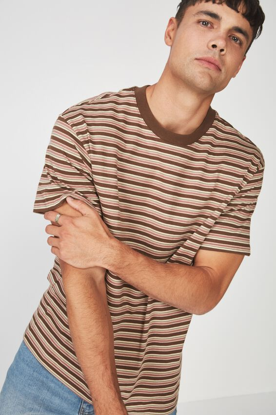 Dylan Tee, CARAFE BROWN MULTI STRIPE