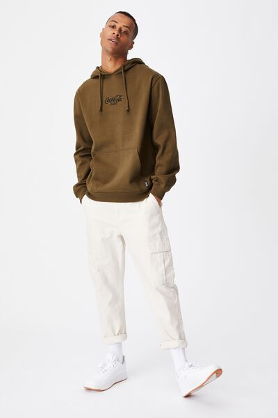 Collab Fleece Pullover, LCN COK MILITARY/COCA COLA CLASSIC