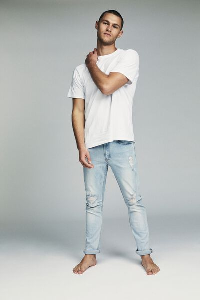 Tapered Leg Jean, CLOUD BLUE + RIPS
