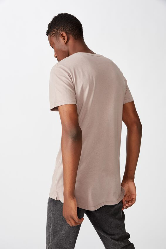 Essential Longline Scoop T-Shirt, DUSK