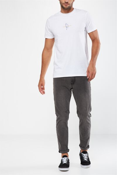 Tapered Leg Jean, CASTLE GREY