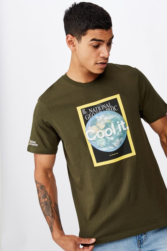 Tbar Collab Pop Culture T-Shirt, LCN NG DUFFLE GREEN/NATIONAL GEOGRAPHIC - COOL