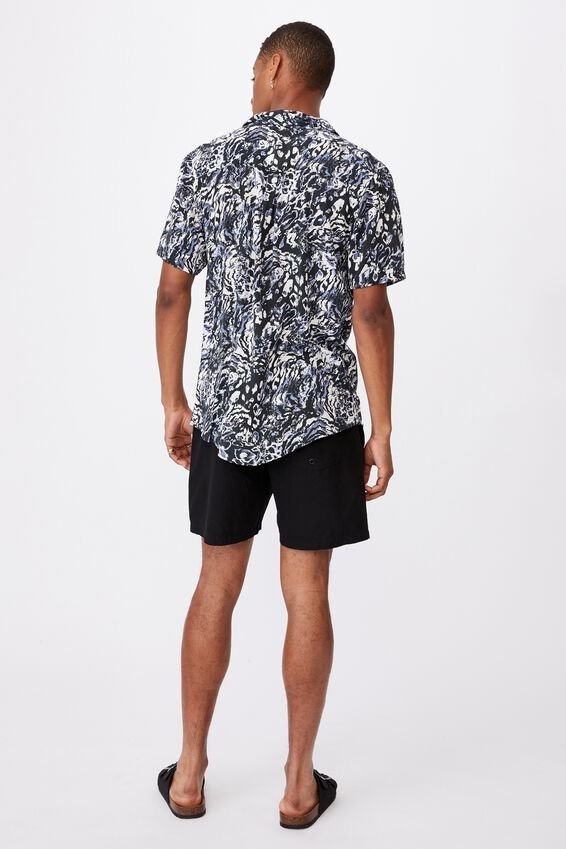 91 Short Sleeve Shirt, ANIMAL ABSTRACT INVERT
