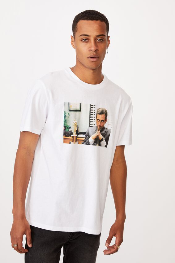 Tbar Collab Movie And Tv T-Shirt, LCN UNI WHITE/THE OFFICE-STARING