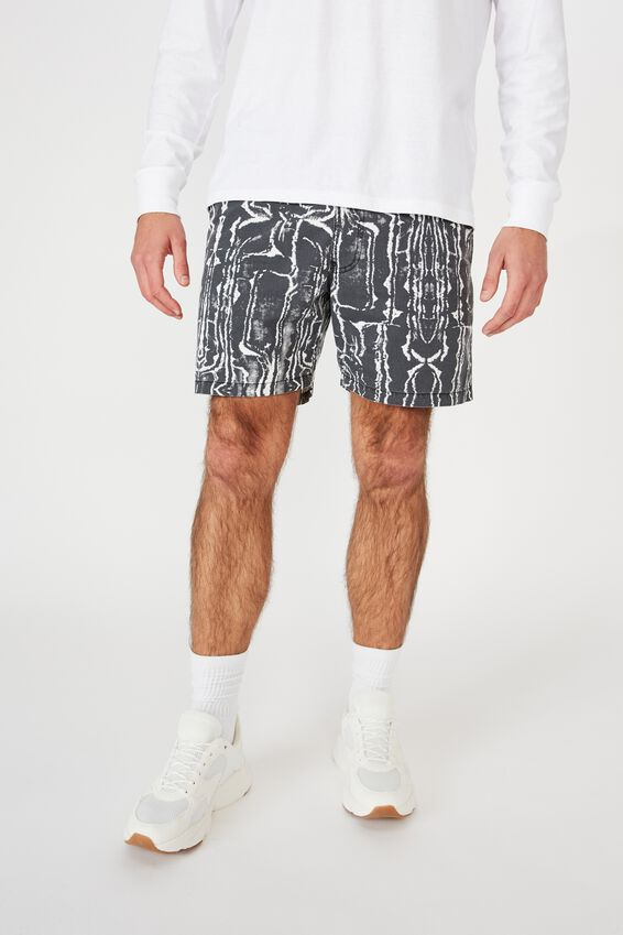 Hoff Short, BLACK/MARBLE TRIBAL