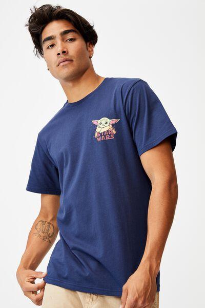 Tbar Collab Movie And Tv T-Shirt, LCN DIS INDIGO/THE MANDALORIAN - CARTOON CHES