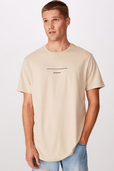 Longline Scoop Tee, PEARL FURTHER INTO THE VOID