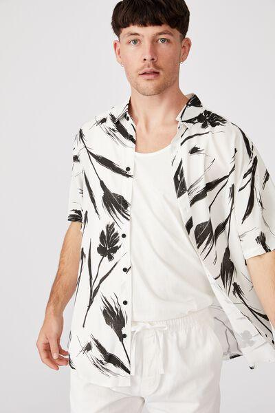 Short Sleeve Resort Shirt, PAINTERLY FLORAL