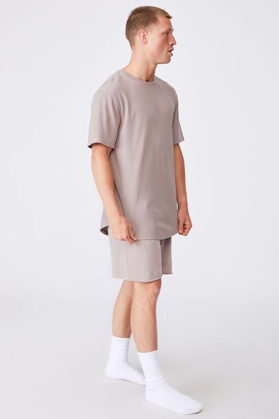 Longline Scoop Waffle T-Shirt, DUSK