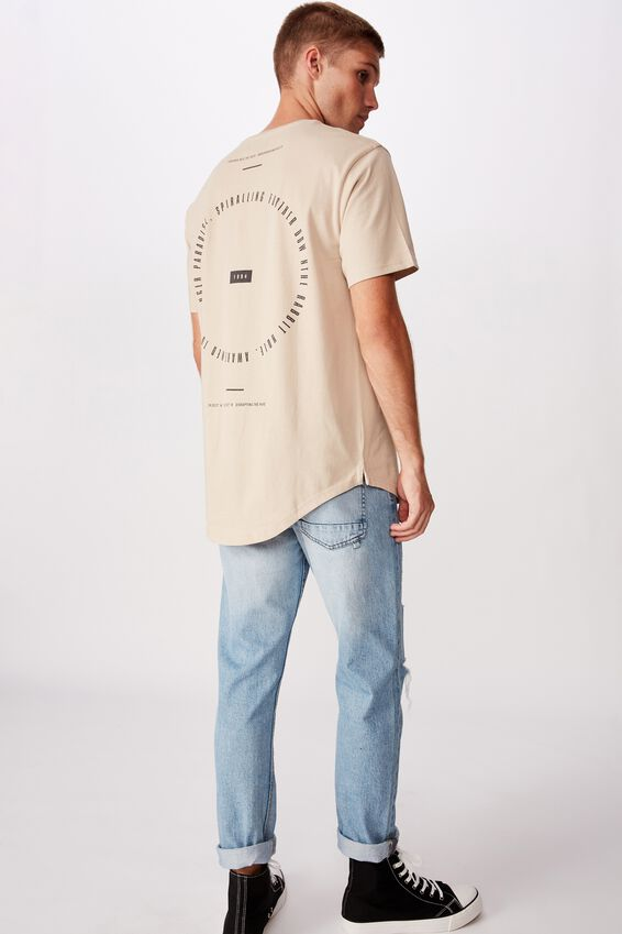 Longline Scoop Hem Tee, PEARL FURTHER INTO THE VOID