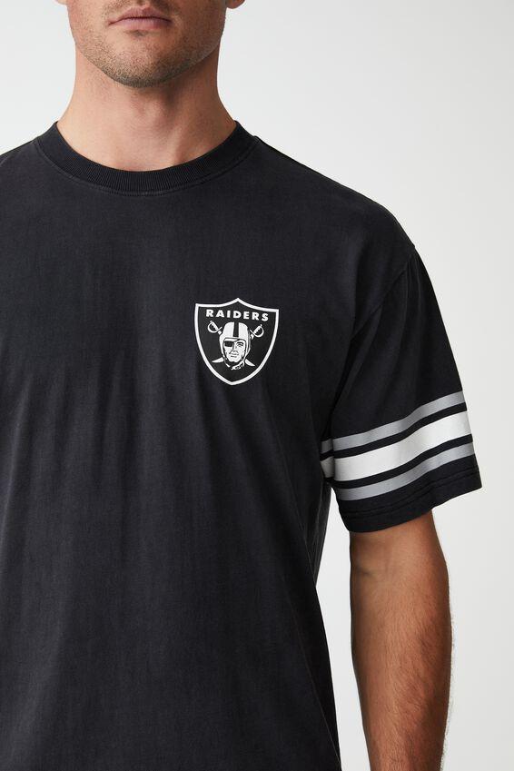Active Collab Oversized T-Shirt, LCN NFL BLACK/NFL - RAIDERS OVERSIZED SHEILD