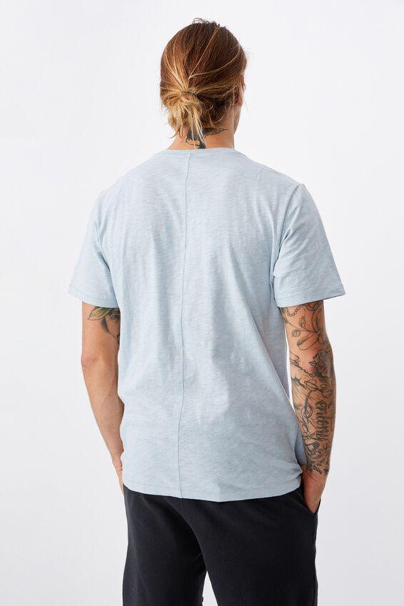 Slub Crew T-Shirt, BLUE CLOUD
