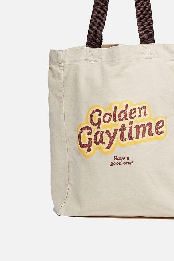Special Edition Shoulder Tote, LCN STR STREETS/GOLDEN GAYTIME