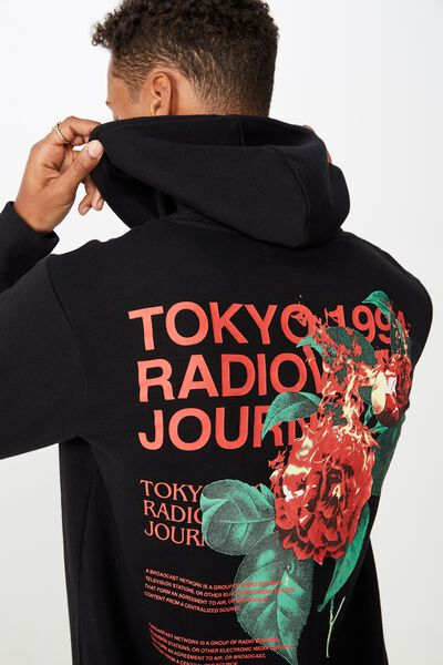Fleece Pullover 2, WASHED BLACK/RADIOWAVE JOURNAL