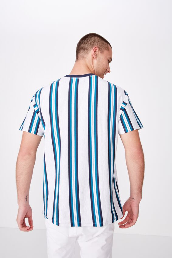 Downtown T-Shirt, WHITE MARLE DEEP OCEAN TRUE NAVY SUPPLY CO