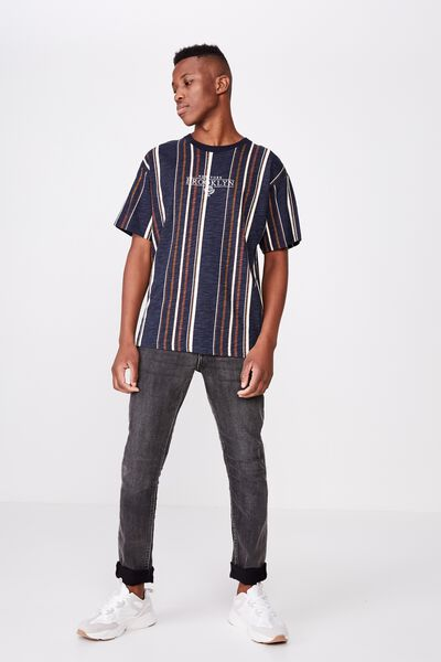Downtown Loose Fit Tee, INK NAVY/PEARL/DASCHUND BROWN/BARN RED/NY BROOKLY