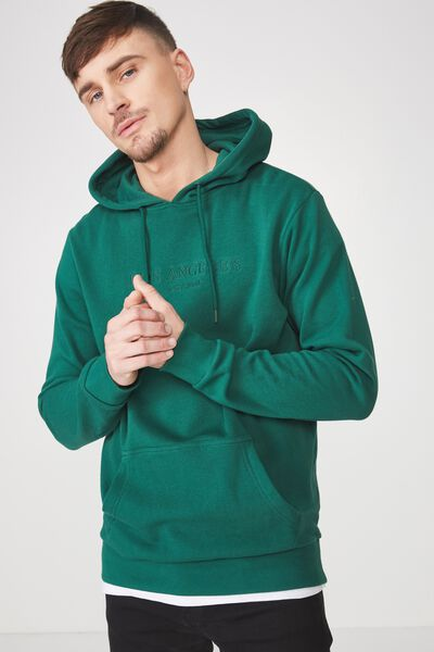 Fleece Pullover 2, POSY GREEN/LOS ANGELES CALIF
