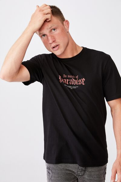 Tbar Moto T-Shirt, BLACK/IN SEARCH OF PARADISE