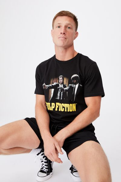 Tbar Collab Movie And Tv T-Shirt, LCN MIR BLACK/PULP FICTION-VINCENT AND JULES