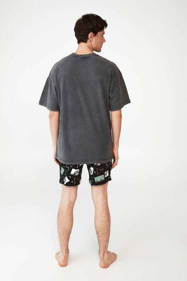 Oversized Vintage T-Shirt, LCN MTV FADED SLATE/MTV - 90S LOGO