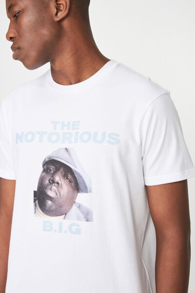 Tbar Collaboration Tee, LC WHITE/THE NOTORIOUS BIG