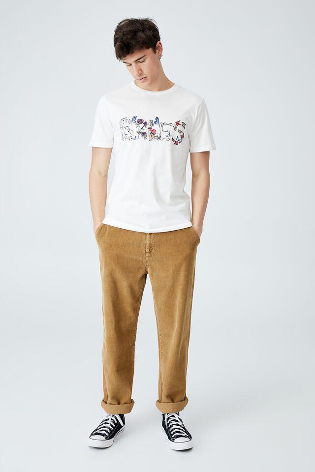 Tbar Collab Music T-Shirt, LCN WMG VINTAGE WHITE/LIL SKIES - LOGO