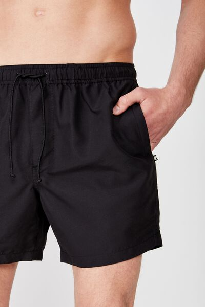 Swim Short, SOLID BLACK