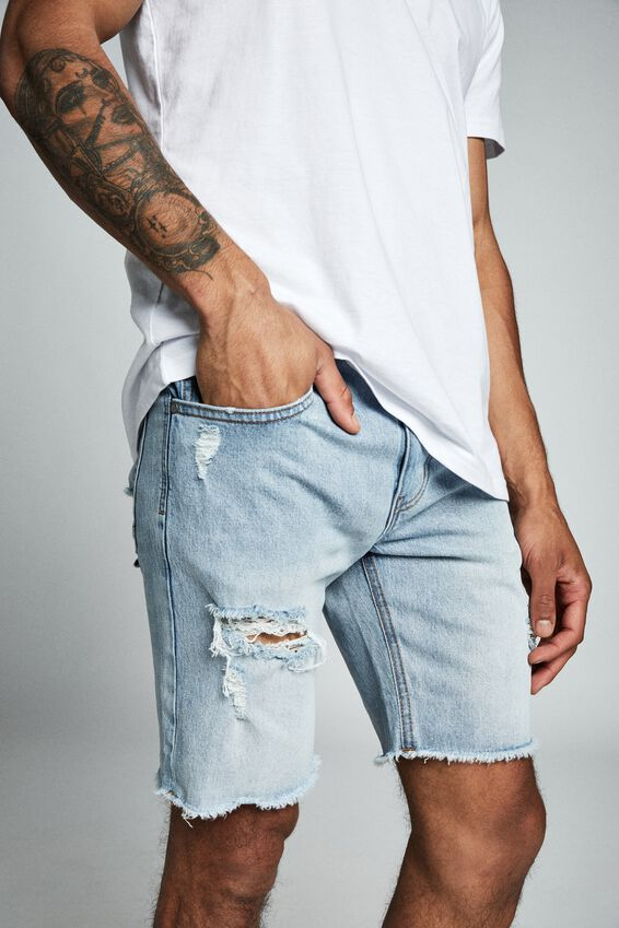 Straight Short, WORN IN BLUE