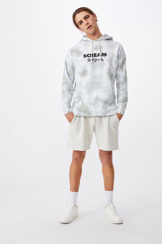 Premium Collab Fleece Pullover, LCN MIR WHITE TIE DYE/SCREAM
