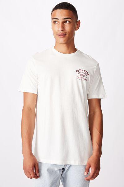Tbar Moto T-Shirt, VINTAGE WHITE/RESIN AND REPAIR