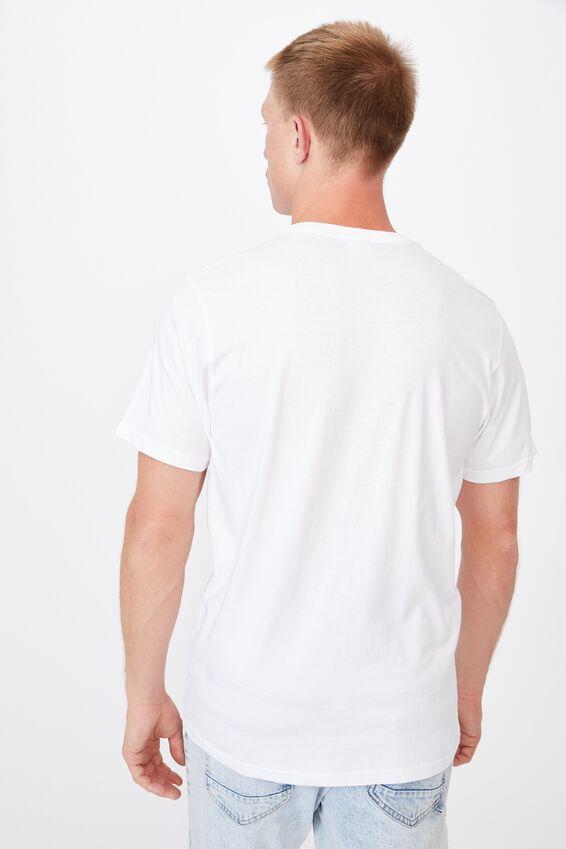 Tbar Text T-Shirt, WHITE/2020