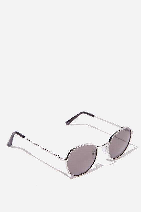 Bellbrae Sunglasses, SILVER MATTE BLACK SMOKE