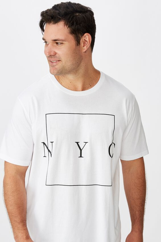 Tbar Tee, WHITE/NYC BOXED