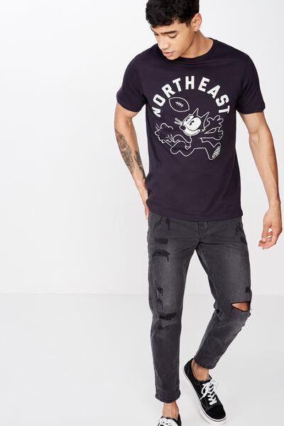Tbar Collab Character T-Shirt, LCN UNI INK NAVY/FELIX - NORTHEAST