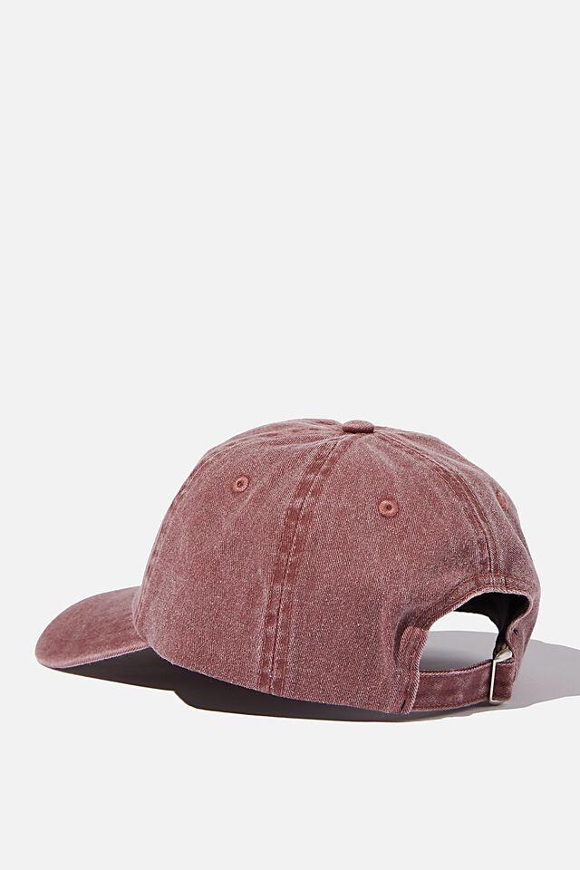 License Vintage Strap Back Cap, LCN HARVARD/BURGUNDY