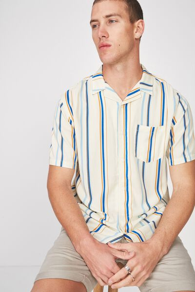 Festival Shirt, WHITE POP STRIPE
