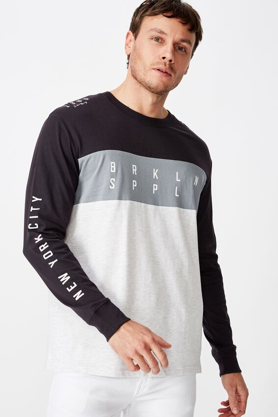 Tbar Long Sleeve, INK NAVY/CITADEL/WHITE MARLE/BRKLYN SUPPLY