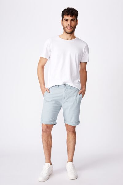 Washed Chino Short, PIGMENT ICE BLUE